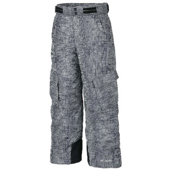 Columbia Sportswear Glacier Slope Snow Pants - Insulated (For Boys) in Black Vert Stripe