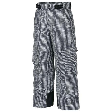 Columbia Sportswear Glacier Slope Snow Pants - Insulated (For Boys) in Black Vert Stripe