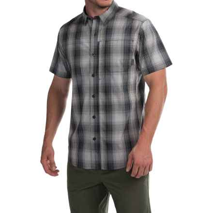 Columbia Sportswear Global Adventure IV Shirt - Omni-Wick®, UPF 50, Short Sleeve (For Men) in Black Plaid - Closeouts