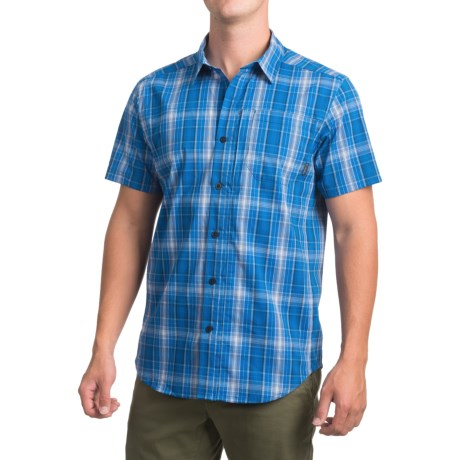 Columbia Sportswear Global Adventure IV Shirt - Omni-Wick®, UPF 50, Short Sleeve (For Men) in Super Blue Plaid