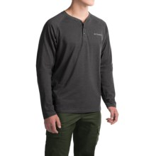 Columbia Sportswear Global Rambler Omni-Wick® Henley Shirt - Long Sleeve (For Men) in Black Heather - Closeouts