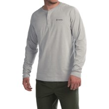 Columbia Sportswear Global Rambler Omni-Wick® Henley Shirt - Long Sleeve (For Men) in Columbia Grey Heather - Closeouts