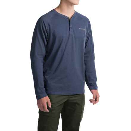 Columbia Sportswear Global Rambler Omni-Wick® Henley Shirt - Long Sleeve (For Men) in Nocturnal Heather - Closeouts