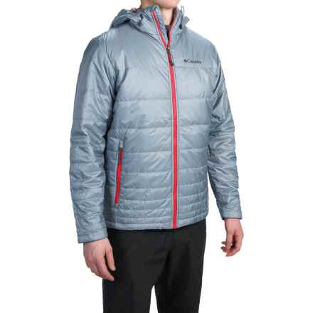 Columbia Sportswear Go To Omni-Heat® Hooded Jacket - Insulated (For Men) in Tradewinds Grey/Bright Red - Closeouts