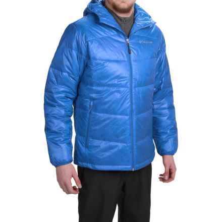 Columbia Sportswear Gold 650 TurboDown® Omni-Heat® Hooded Jacket - 550 Fill Power (For Men) in Hyper Blue - Closeouts