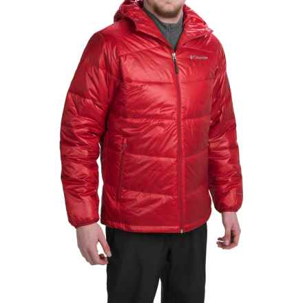 Columbia Sportswear Gold 650 TurboDown Omni-Heat® Hooded Jacket - 550 Fill Power (For Men) in Rocket - Closeouts