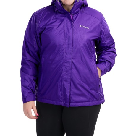 Columbia Sportswear Gotcha Groovin Jacket - Insulated (For Plus Size Women) in Hyper Purple/Hyper Purple