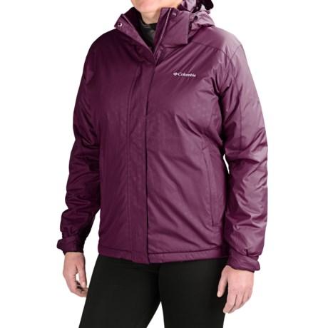 Columbia Sportswear Gotcha Groovin Jacket - Insulated (For Plus Size Women) in Purple Dahlia Emboss
