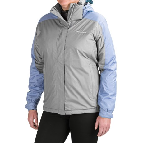 Columbia Sportswear Gotcha Groovin Jacket - Insulated (For Plus Size Women) in Tradewinds Grey Emboss/Empress