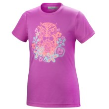 Columbia Sportswear Graphic T-Shirt - UPF 50, Short Sleeve (For Little and Big Girls) in Foxglove - Closeouts