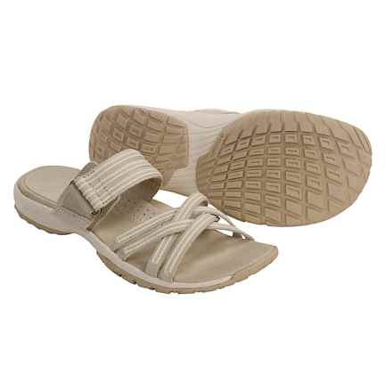 Columbia Sportswear Gretta Sandals - Leather, Slip-Ons (For Women) in Stone - Closeouts