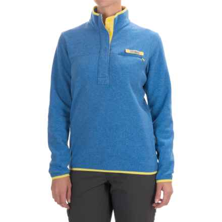 Columbia Sportswear Harborside Fleece Jacket - Snap Mock Neck (For Women) in Stormy Blue Heather - Closeouts