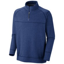Columbia Sportswear Hard Edge Shirt - Zip Neck, Long Sleeve (For Men) in Royal Heather - Closeouts