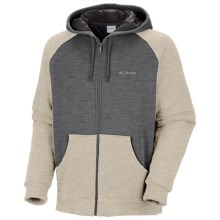 Columbia Sportswear Hart Mountain Hoodie Jacket - Insulated (For Men) in Charcoal Heather/Oatmeal - Closeouts