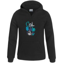 Columbia Sportswear Heart in the Hills Hoodie (For Little and Big Girls) in Black - Closeouts