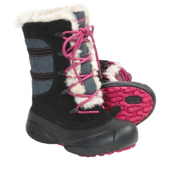 Columbia Sportswear Heather Canyon Winter Boots - Insulated (For Youth) in Black/Bright Rose