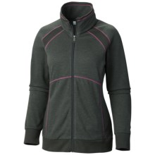 Columbia Sportswear Heather Hills Shirt - Full Zip, Long Sleeve (For Women) in Coal - Closeouts