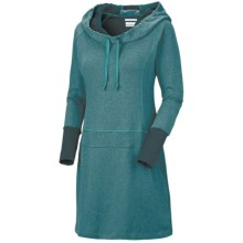 Columbia Sportswear Heather Honey Dress - Hooded, Long Sleeve (For Women) in Blue Forest - Closeouts