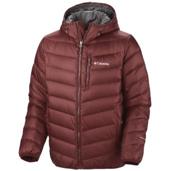 Columbia Sportswear Hellfire Omni-Heat® Down Hooded Jacket - 550 Fill Power (For Men) in Madder Brown