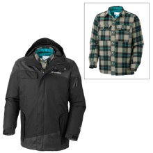 Columbia Sportswear Hells Mountain Interchange Jacket - 3-in-1 (For Men) in Black Lumberjack Plaid - Closeouts