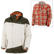 Columbia Sportswear Hells Mountain Interchange Jacket - 3-in-1 (For Men) in Surplus Green Lumberjack Plaid - Closeouts