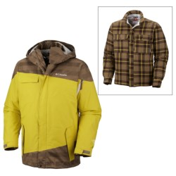 Columbia Sportswear Hells Mountain Interchange Jacket - 3-in-1 (For Men) in Truffle Lumberjack Plaid
