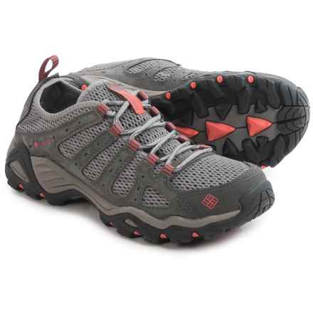 Columbia Sportswear Helvatia Vent Hiking Shoes (For Women) in Light Grey/Hot Coral - Closeouts