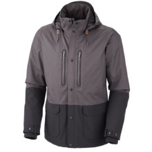 Columbia Sportswear Hemlock Road Omni-Tech® Jacket - Waterproof (For Men) in Black Broken Twill - Closeouts