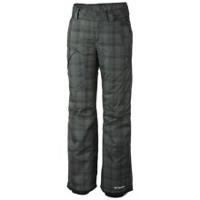 Columbia Sportswear High Volt Omni-Heat® Snow Pants - Waterproof, Insulated (For Women) in Black Printed Plaid - Closeouts