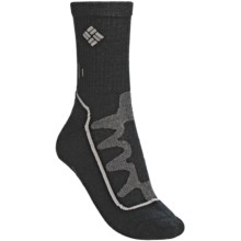 Columbia Sportswear Hiker Medium II Socks - Merino Wool, Medium Cushion, Crew (For Women) in Black/Charcoal - Closeouts