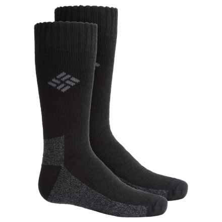 Columbia Sportswear Hiking Socks - 2-Pack, Crew (For Big Boys) in Black - Closeouts