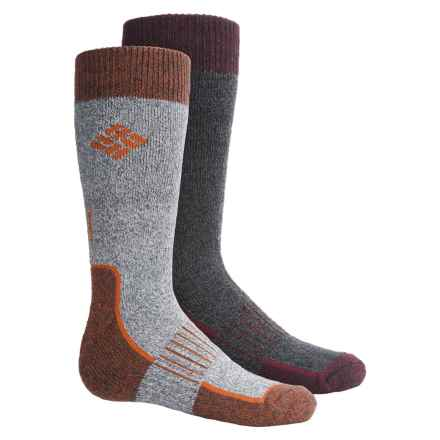Columbia Sportswear Hiking Socks - 2-Pack, Crew (For Big Boys) in Charcoal/Black - Closeouts