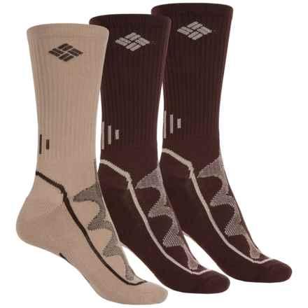 Columbia Sportswear Hiking Socks - 3-Pack, Crew (For Women) in Khaki/Brown - Closeouts