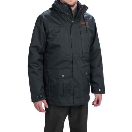 Columbia Sportswear Horizons Pine Interchange Omni-Heat® Jacket - Waterproof, Insulated, 3-in-1 (For Men) in Black/Black - Closeouts