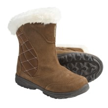 Columbia Sportswear Ice Maiden Winter Boots - Suede, Insulated (For Youth) in Bison/Pink Lady - Closeouts