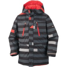 Columbia Sportswear Ice Slope Long Jacket (For Toddlers) in Black Stripe - Closeouts