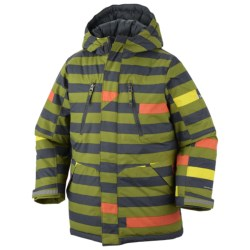 Columbia Sportswear Ice Slope Long Jacket (For Toddlers) in Black Stripe