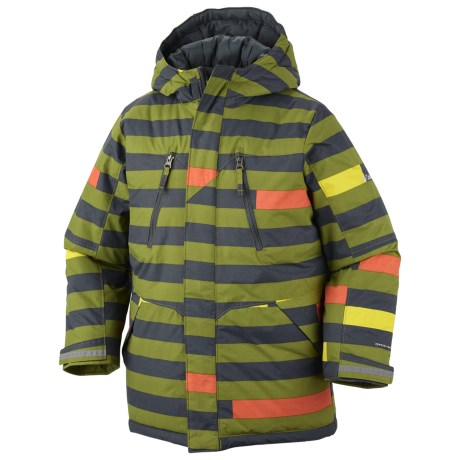Columbia Sportswear Ice Slope Long Jacket (For Toddlers) in Elm Stripe