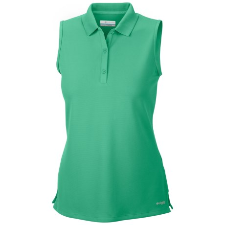 Columbia Sportswear Innisfree Polo Shirt - UFP 50, Sleeveless (For Women) in Glaze Green
