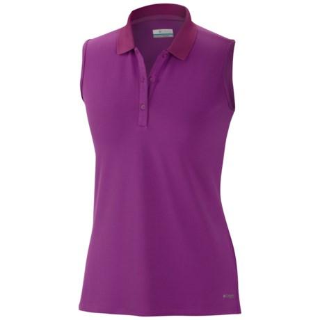 Columbia Sportswear Innisfree Polo Shirt - UFP 50, Sleeveless (For Women) in Razzle