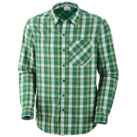Columbia Sportswear Insect Blocker® Plaid Shirt - UPF 30, Long Sleeve (For Men) in Foliage