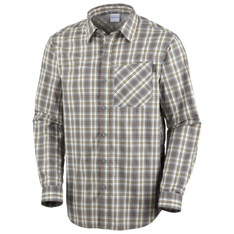 Columbia Sportswear Insect Blocker® Plaid Shirt - UPF 30, Long Sleeve (For Men) in White Large Plaid