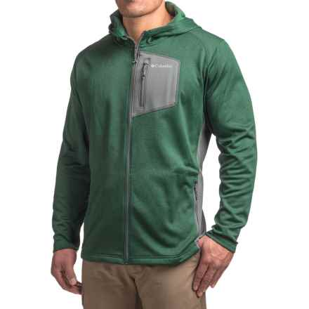 Columbia Sportswear Jackson Creek Fleece Hoodie - Full Zip (For Men) in Wildwood Green Heather/Graphite - Closeouts