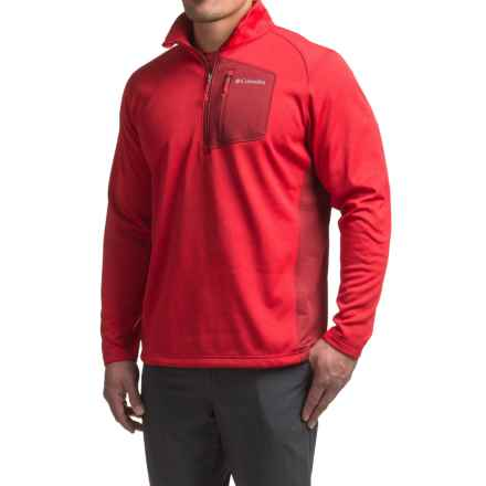 Columbia Sportswear Jackson Creek Fleece Jacket - Zip Neck (For Men) in Mountain Red Heather - Closeouts