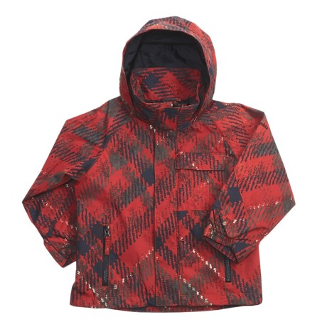 Columbia Sportswear Jagged Peak Jacket - 3-in-1 (For Little Boys) in Flame Plaid