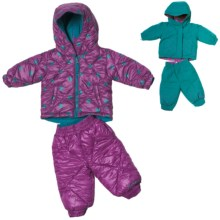 Columbia Sportswear Jane Frosty Jacket and Snow Pants - Insulated, Reversible (For Infant Girls) in Light Turquoise/Raspberry Pri - Closeouts