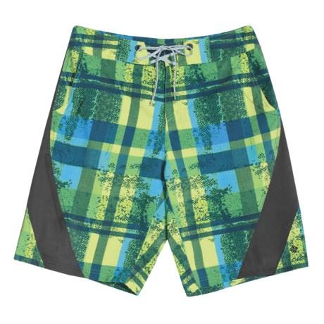 Columbia Sportswear Jollyollie Board Shorts - UPF 50 (For Men) in Green Glow