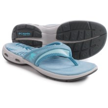 Columbia Sportswear Kambi Vent Flip Sandals (For Women) in Dark Mirage/Sky Blue - Closeouts