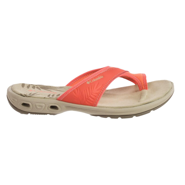 Simple Columbia Kea Womens Size 11 Black Open Toe Flip Flops Sandals Shoes