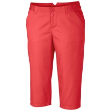 Columbia Sportswear Kenzie Cove Capris (For Plus Size Women) in Red Hibiscus - Closeouts